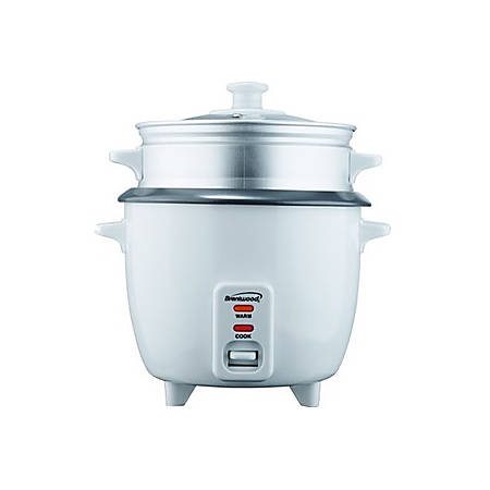 Brentwood 8 Cup Rice Cooker with Steamer in White (TS-180S) - 500 W1.59 quart - White