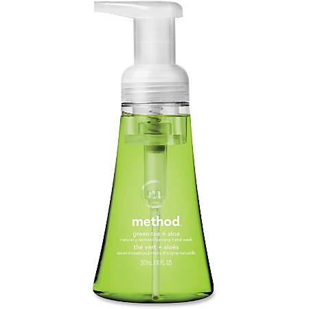 Method Green Tea/Aloe Foaming Hand Wash - Green Tea + Aloe Scent - 10 fl oz (295.7 mL) - Pump Bottle Dispenser - Hand - Green - Non-toxic - 6 / Carton