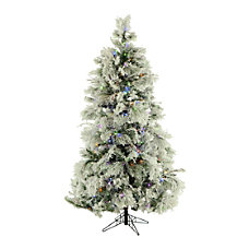 Fraser Flocked Snowy Pine Christmas Tree
