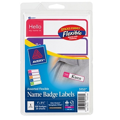 Avery name badge labels 3 12 x 1 14 whiteassorted borders pack of 20 mouse over to zoom saigontimesfo