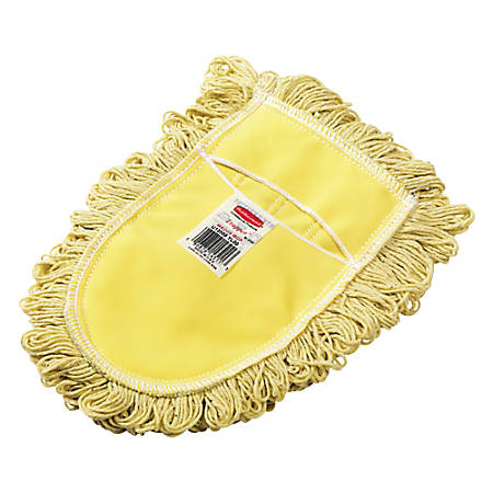 Rubbermaid® Commercial Trapper Wedge Dust Mop Head, Yellow