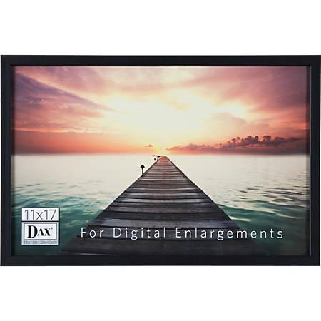 DAX Digital Enlargement Black Wood Frame - Digital Frame - Black - Protective Glass - Wall Mountable