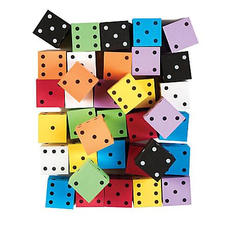 """Koplow Games Foam Dot Dice, 2"""", Bag Of 36 Dice"""
