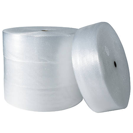 "30% Recycled Office Depot® Brand Bubble Roll, 1/2"" x 48"" x 250', Slit At 16"", Peft At 12"""