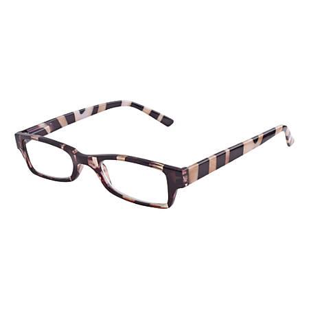 Wink San Diego Reading Glasses, +2.50, Zebra