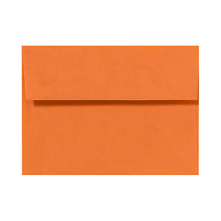 "LUX Invitation Envelopes With Peel & Press Closure, A7, 5 1/4"" x 7 1/4"", Mandarin Orange, Pack Of 1,000"