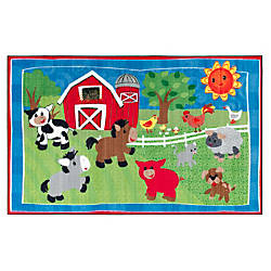 Flagship Carpets Cutie Barnyard Rug Rectangle