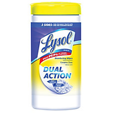 Lysol Dual Action Disinfecting Wipes Citrus