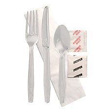 Individually Wrapped Cutlery Kits Clear Case