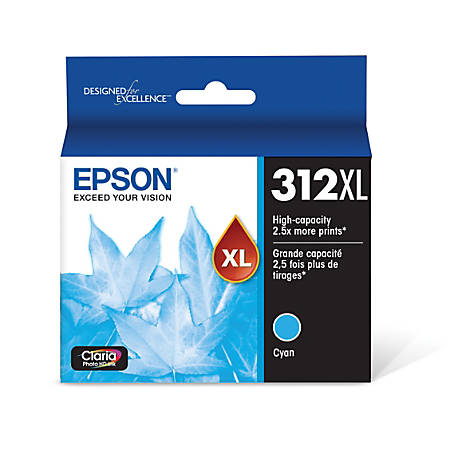 Epson® Claria Photo Hi-Definition T312XL220-S High-Yield Cyan Ink Cartridge