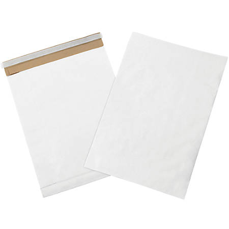 """Office Depot® Brand White Self-Seal Padded Mailers, #7, 14 1/2"""" x 20"""", Pack Of 25"""