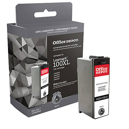 Office Depot® Brand OD100BXL (Lexmark 100XLA) Remanufactured High-Yield Black Ink Cartridge