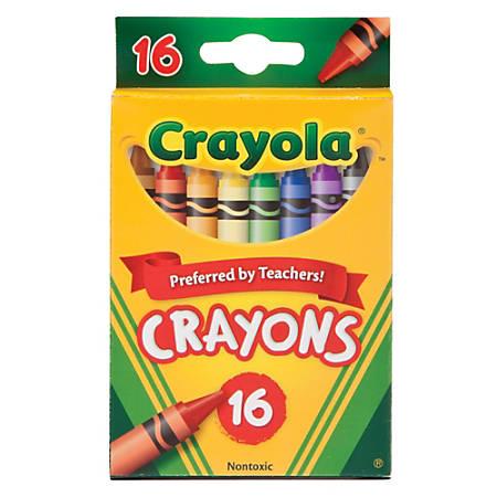 Crayola® Standard Crayon Set, Peg Box, Assorted Colors, Box Of 16