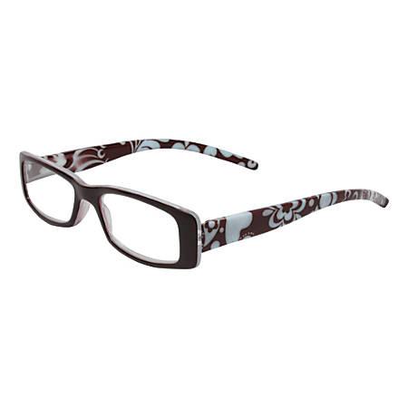 Wink® Avalon Floral Reading Glasses, +2.50, Brown