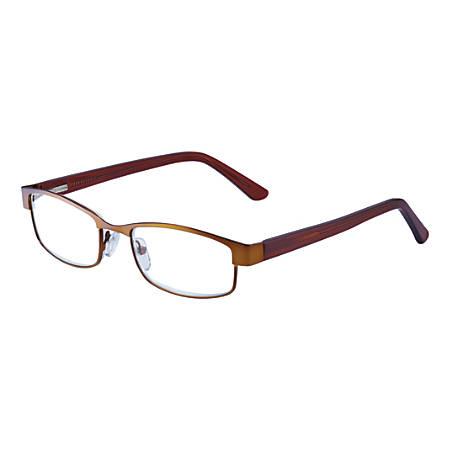 Wink® Coachella Half-Rim Reading Glasses, +1.25, Bronze