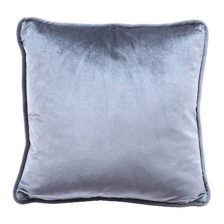 Zuo Modern Velvet Pillow, Gray