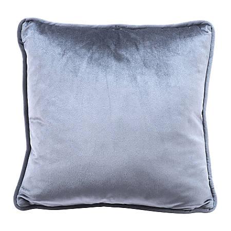 Zuo Modern Velvet Pillow, Gray