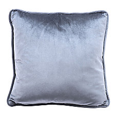 Zuo Modern Velvet Pillow Gray