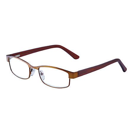 Wink® Coachella Half-Rim Reading Glasses, +2.00, Bronze