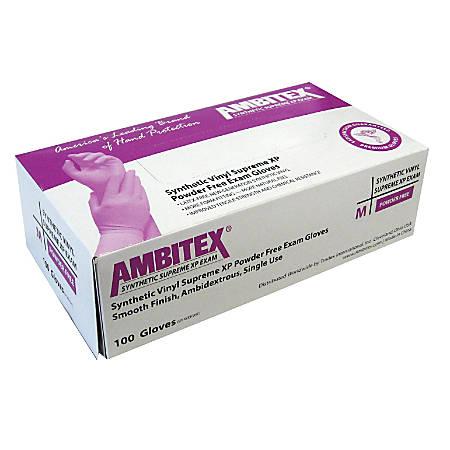 Tradex International Powder-Free Stretch Vinyl Exam Gloves, Small, White, Box Of 100