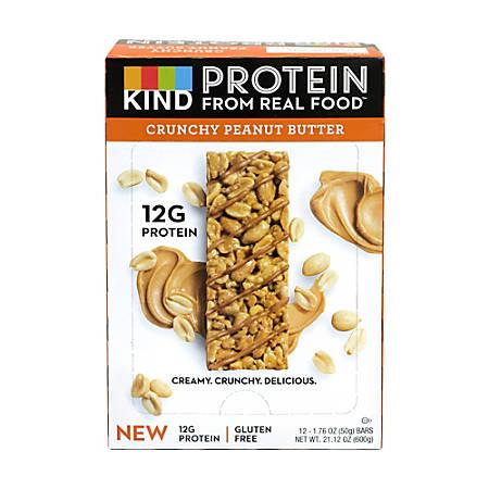 KIND Protein Bar Crunchy Peanut Butter, 1.76 oz, 12 Count