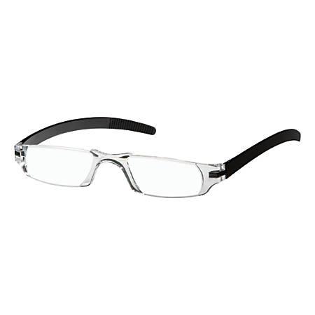 Dr. Dean Edell Slim Vision Reading Glasses, +1.25, Black