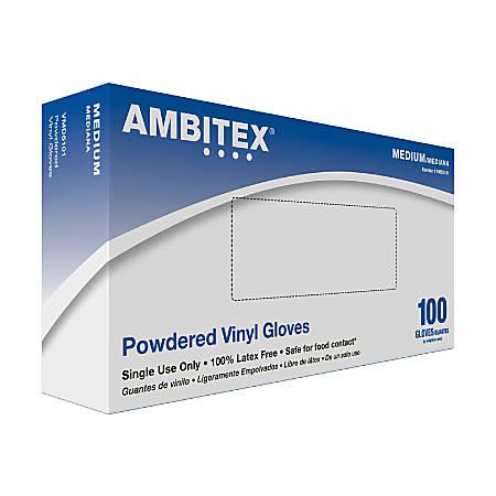 Tradex International Vinyl General Purpose Gloves, Medium, Clear, Box Of 100