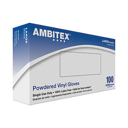 Tradex International Vinyl General Purpose Gloves, Large, Clear, Box Of 100