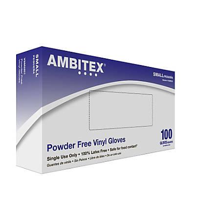 Tradex International Powder-Free Vinyl General Purpose Gloves, Small, Clear, Box Of 100