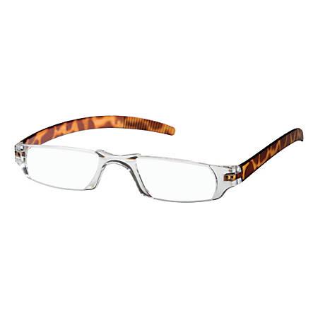 Dr. Dean Edell Slim Vision Reading Glasses, +1.25, Tortoise