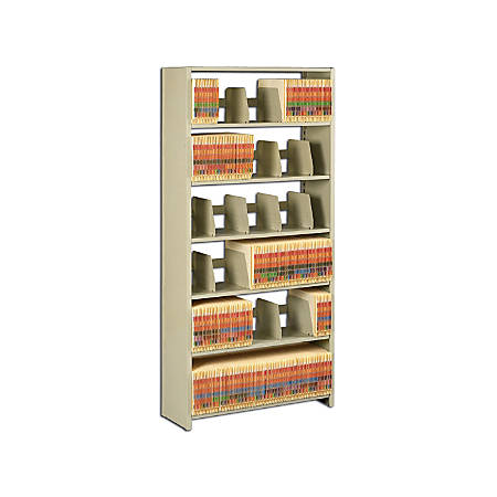 """Tennsco 76""""H Add-On Unit For Snap-Together Open Shelving, Sand"""