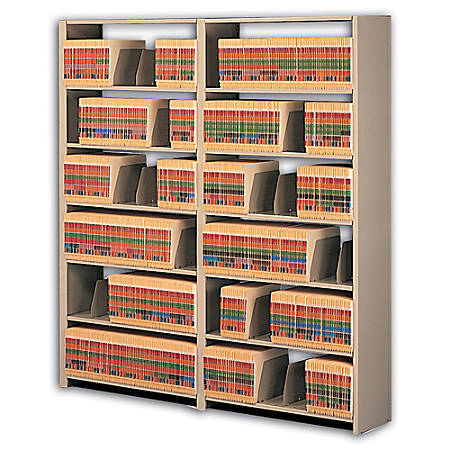 Tennsco Snap-Together Open Shelving Unit, Sand