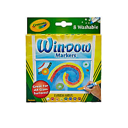 Crayola Washable Window Markers Conical Tip