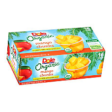 Dole Organic Mango Chunks Fruit Cups