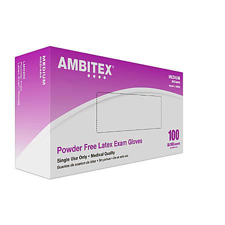 Tradex International Powder-Free Latex Exam Gloves, Small, White, Box Of 100