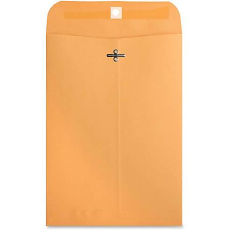 "Business Source Heavy-duty Clasp Envelopes - Clasp - #75 - 7 1/2"" Width x 10 1/2"" Length - 28 lb - Clasp - Kraft - 100 / Box - Kraft"