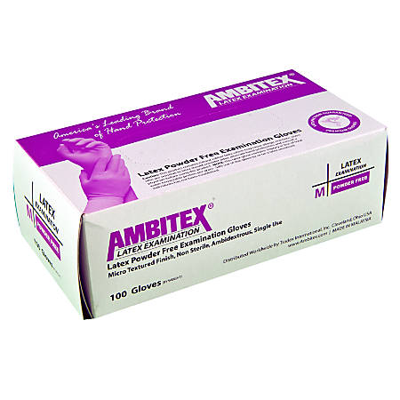 Tradex International Powder-Free Latex Exam Gloves, X-Large, White, Box Of 100