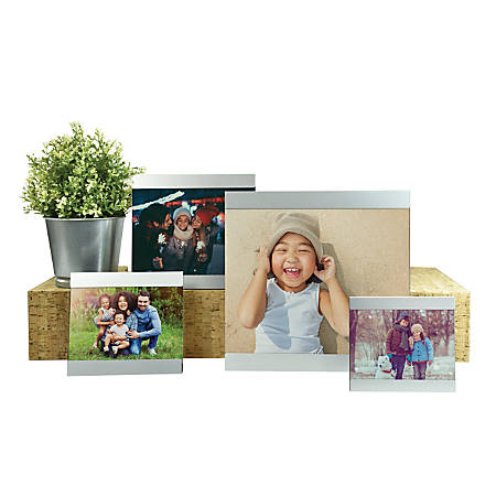 Orbit Photo Frame Set, Brushed Nickel, Set Of 4 Frames