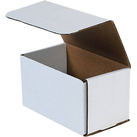 "Office Depot® Brand 8"" Corrugated Mailers, 6""H x 6""W x 9""D, White, Pack Of 50"
