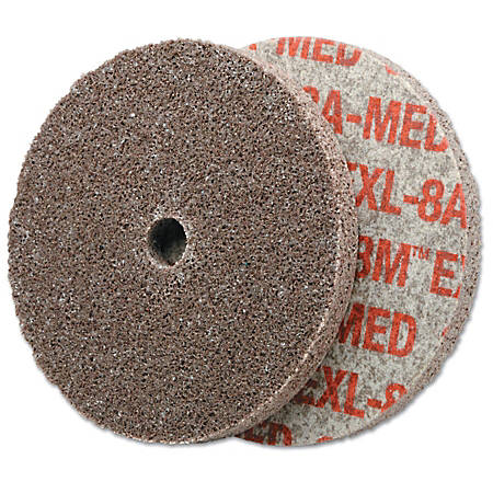 "3M™ Scotch-Brite™ EXL Unitized Deburring Wheel, 3""H x 1/8""W x 1/4""D, Medium"