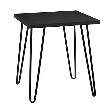 Ameriwood™ Home Owen Retro End Table, Square, Black Oak/Black