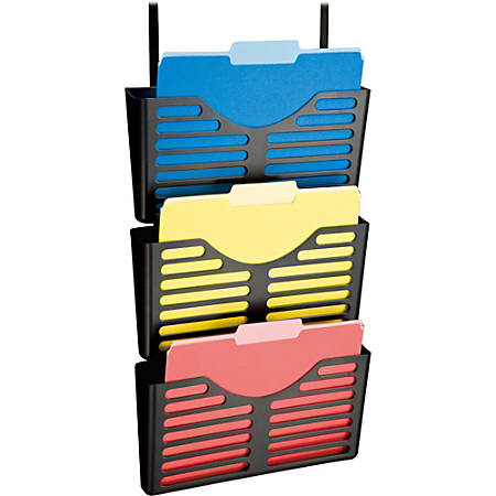 Lorell® Recycled Plastic Hanging Wall File, Black, Set Of 3