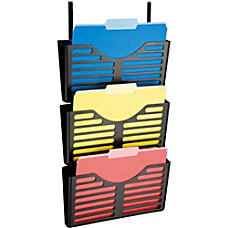 Lorell Plastic Hanging Triple Pocket File