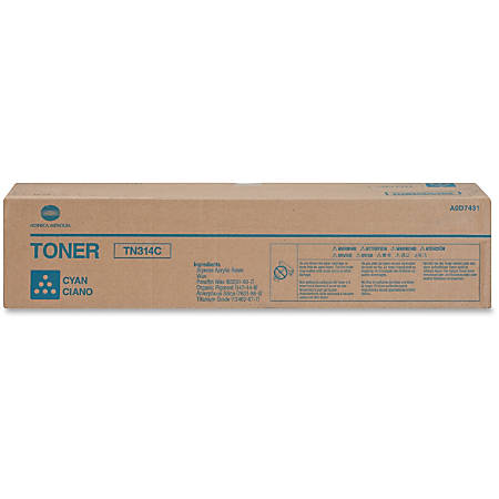 Konica Minolta TN-314C - Cyan - original - toner cartridge - for bizhub C353, C353P; magicolor 8650DN, 8650HDN