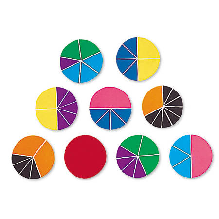 Learning Resources® Rainbow Fraction® Deluxe Circles, Ages 6-12, Set of 9