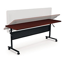 Lorell Rectangular Flipper Training Table Cherry