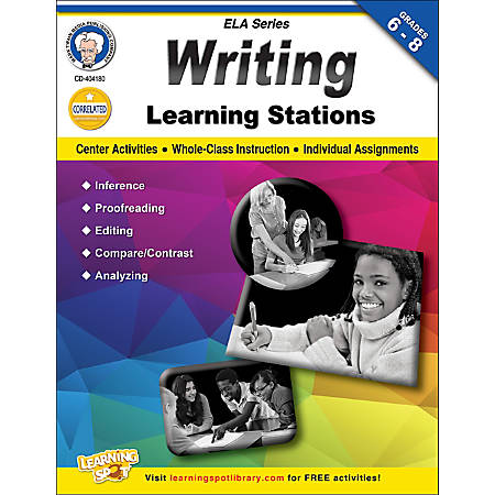 Mark Twain Writing Learning Stations Workbook, Grades 6-8