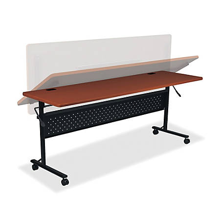 "Lorell® Shift Series Mobile Flipper Training Table, 72""W, Cherry"