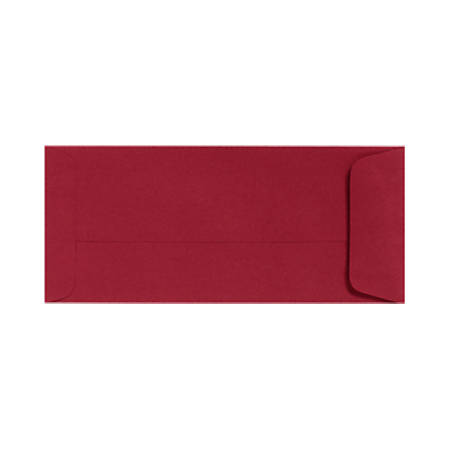 """LUX Open-End Envelopes With Peel & Press Closure, #10, 4 1/8"""" x 9 1/2"""", Garnet Red, Pack Of 50"""