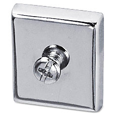 Lorell Heavy Duty Cubicle Magnets Silver